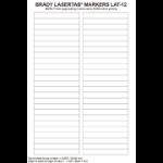 Brady LaserTab White Self-adhesive printer label