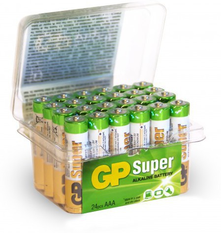 GP Batteries GP Super Alkaline AAA-battery Bundle of 24 batteries. 1,5V High quality batteries for e