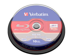 Verbatim BD-RE SL 25GB 2x 10pk