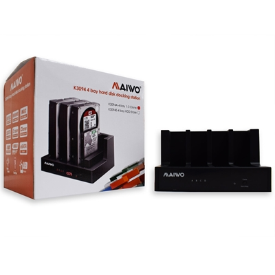 MAIWO Quad-Bay USB 3.0 HDD Clone Docking Station