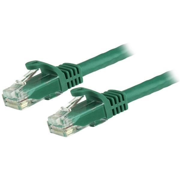 StarTech.com Cable de 7,5m Cat6 Ethernet de Red Verde - RJ45 sin Enganches - 24AWG