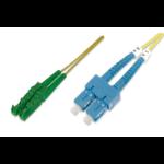 ASSMANN Electronic E2000-SC, 15m Glasvezel kabel OS2 E-2000 (APC) SC/PC Geel