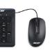 Acer NP.MCE1A.006 ratón USB tipo A Óptico 1000 DPI Ambidextro