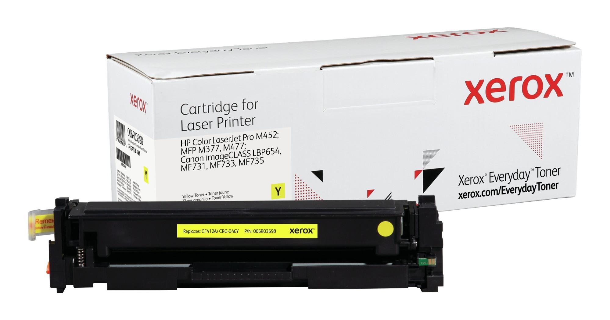 Xerox Tóner de Rendimiento estándar Amarillo Everyday, HP CF412A/ CRG-046Y equivalente de , 2300 páginas