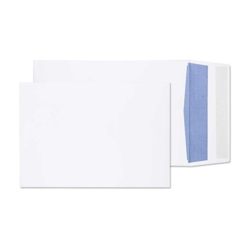 Blake Purely Packaging Gusset Pocket Peel and Seal White C4 324×229×25mm 140gsm (Pack 125)