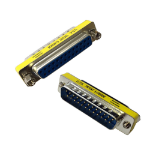 Videk DB25M / DM25F DB25 DB25 Stainless steel,Yellow cable interface/gender adapter
