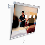 "Projecta FlexScreen 99"" 1:1 projection screen"