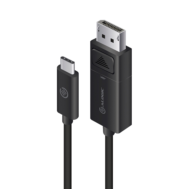 USB-C to DisplayPort Cable with 4K Support - Male to Male - Premium Retail Box Packaging - 2m