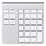 Belkin YourType numeric keypad Bluetooth PC/server Aluminium,White
