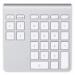 Belkin YourType teclado numérico Bluetooth PC/servidor Aluminio, Blanco