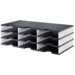 Styro styrodoc trio file storage box Polystyrol Black, White