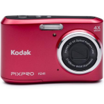 "Kodak PIXPRO FZ41 Compact camera 16.15MP 1/2.3"" CCD 4608 x 3456pixels Black,Red"