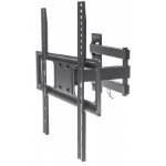 "Manhattan TV & Monitor Mount, Wall, Full Motion, 1 screen, Screen Sizes: 32-55"", Black, VESA 100x100 to 400x400mm, Max 35kg, LFD, Tilt & Swivel with 3 Pivots, Lifetime Warranty"