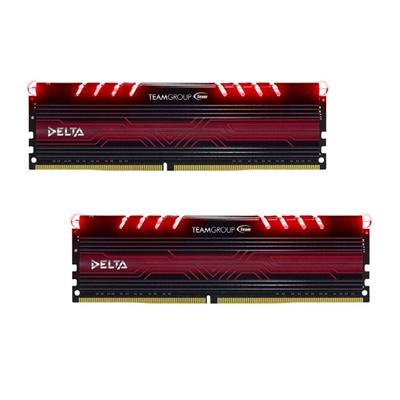 Team Group DELTA 16GB Breathing LED Heatsink (2 x 8GB) DDR4 2400MHz DIMM System Memory