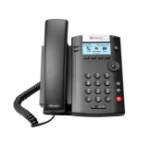 POLY 201 IP phone Black 2 lines LED