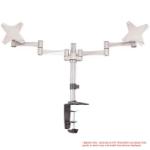Astrotek Monitor Stand Desk Mount 43cm Arm for Dual Screens 13'-27' 8kg 15° tilt 180° swivel 360° rotate VESA