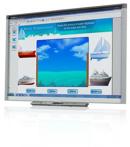 "Smart SBX880 77"" Touchscreen USB White interactive whiteboard"