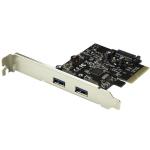StarTech.com Dual-Port USB 3.1 Card - 10Gbps per port - 2x USB-A - PCIe