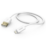 Hama 1.5m, Lightning/USB 1.5m USB A Lightning White mobile phone cable