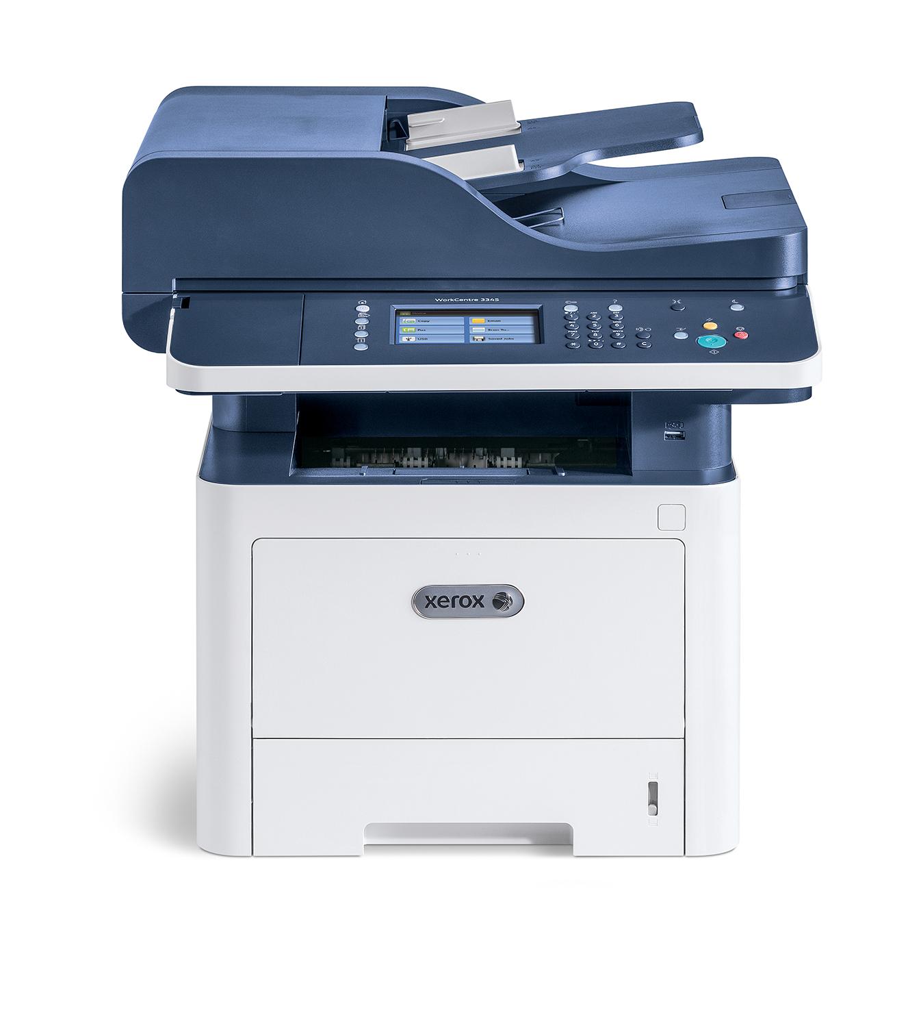 Xerox WorkCentre WC 3345 A4 40 ppm WiFi Doble cara Copia/impresión/escaneado/fax PS3 PCL5e/6 DADF 2 bandejas 300 hojas