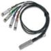 Mellanox Technologies MCP7F00-A005R26L cable de fibra optica 5 m LSZH QSFP28 4x SFP28 Negro