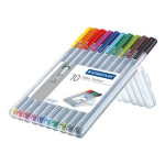 Staedtler triplus 334 fineliner Multi 10 pc(s)