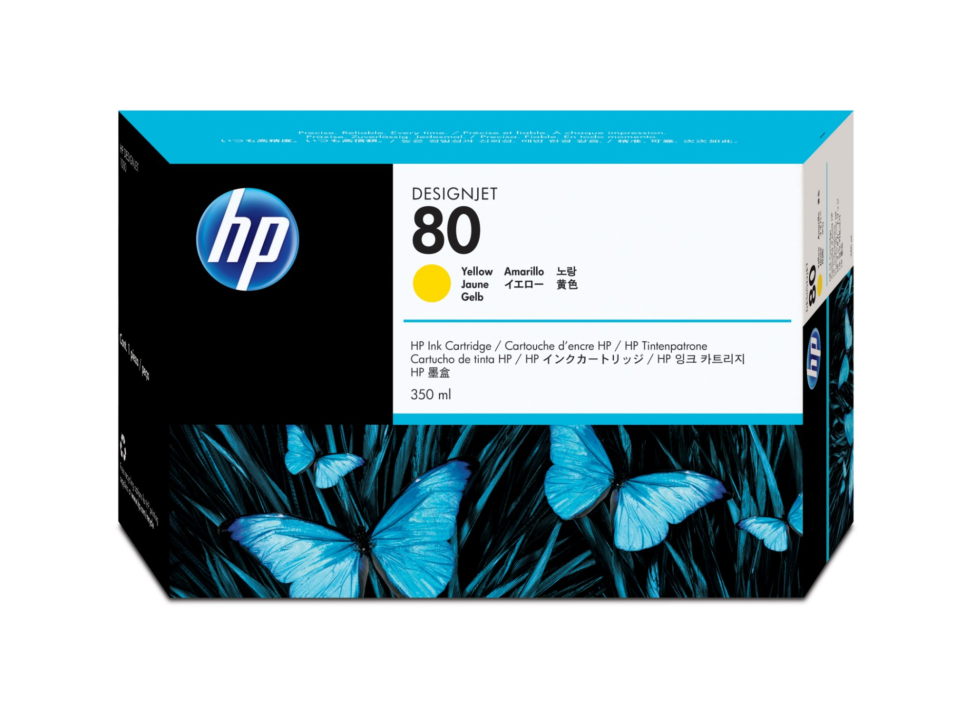 HP 80 Original Amarillo