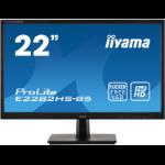 """iiyama ProLite E2282HS-B5 LED display 54.6 cm (21.5"""") 1920 x 1080 pixels Full HD Black"""