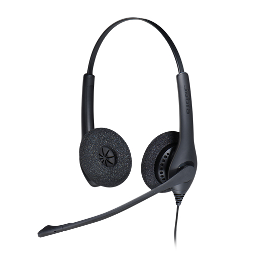Jabra BIZ 1500 Duo USB Auriculares Diadema Negro