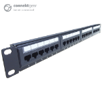 CONNEkT Gear 24 Port Patch Panel (CAT6) IDC Punch Down 19 inch + Lacing Bar
