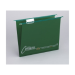 Rexel Crystalfile Extra Foolscap Suspension File 15mm Green (25)
