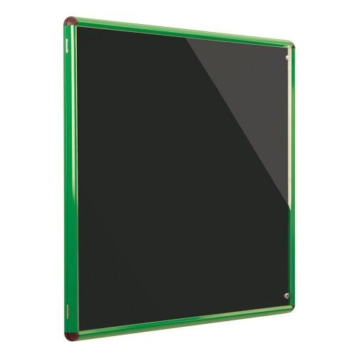Metroplan Shield Design insert notice board Indoor Green, Black Aluminium