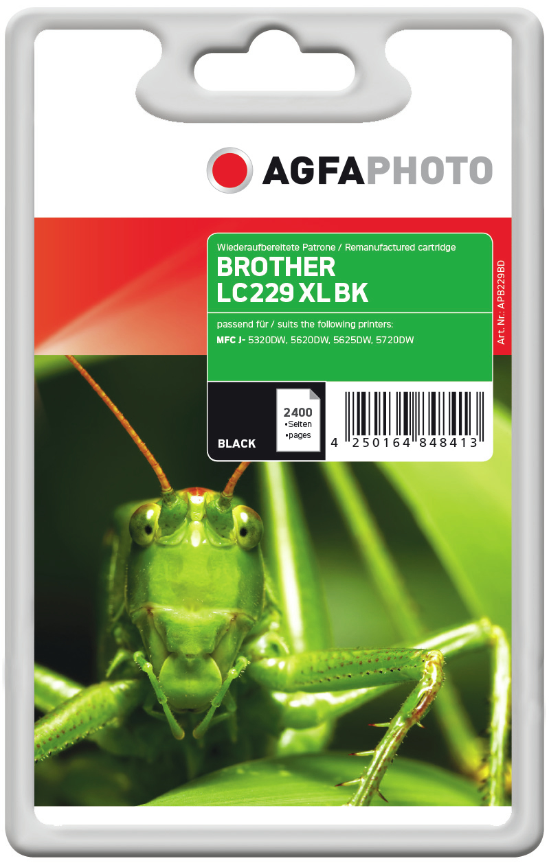 AgfaPhoto APB229BD 2400pages Black ink cartridge