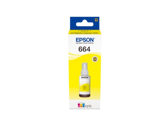 Epson C13T664440 (664) Ink bottle yellow, 6.5K pages, 70ml