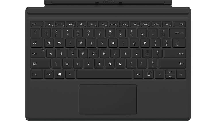 Microsoft Surface Pro Type Cover teclado para móvil AZERTY Negro Microsoft Cover port