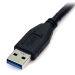 StarTech.com 0.5m (1.5ft) Black SuperSpeed USB 3.0 Cable A to Micro B - M/M USB3AUB50CMB