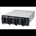 QNAP TS-EC1680U R2 NAS Rack (3U) Ethernet LAN Aluminium, Black