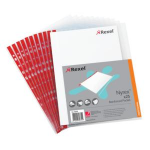 Rexel Nyrex  Reinforced Side Opening A4 Pocket Clear (25) filing pocket