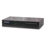 Planet GSD-503 network switch Unmanaged L2 Gigabit Ethernet (10/100/1000) Black