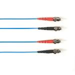 """Black Box FOLZH10-003M-STST-BL fiber optic cable 118.1"""" (3 m) LSZH OM3 ST Blue"""