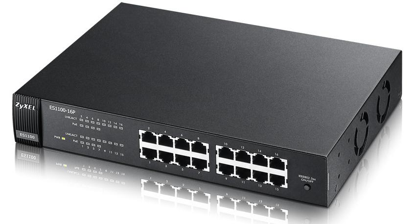 Zyxel ES1100-16P No administrado L2 Gris Energía sobre Ethernet (PoE)