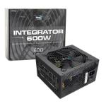 Aerocool Integrator 600W 80+ Certified PSU 12cm Black Fan Active PFC TW Caps UK Cable