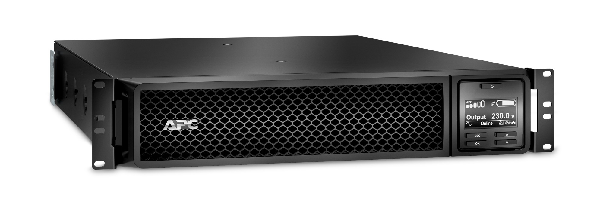APC SRT2200RMXLI-NC sistema de alimentación ininterrumpida (UPS) Doble conversión (en línea) 2200 VA 1980 W 12 salidas AC