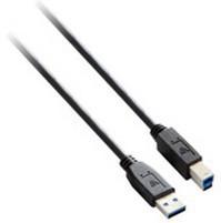 V7 Cable USB negro con conector USB 2.0 A macho a USB 2.0 A macho 1.8m 6ft
