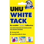 UHU White Tack 62g Pack of 12