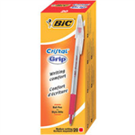 BIC Cristal Grip Red Stick ballpoint pen Medium 20 pc(s)
