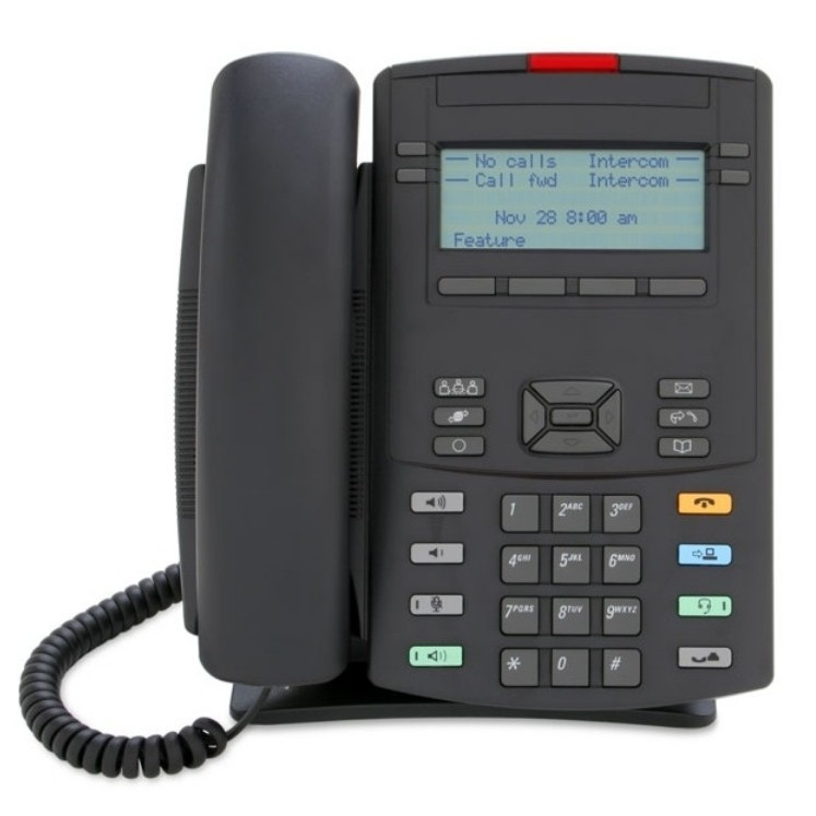 1220 IP Deskphone - Charcoal With Icon Keycaps No Power Supply
