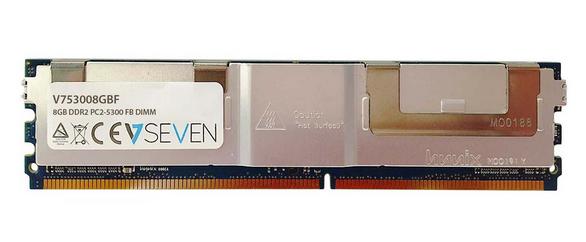 V7 8GB DDR2 PC2-5300 667Mhz SERVER FB DIMM Server módulo de memoria - V753008GBF