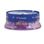 Verbatim DVD+R DL 8.5GB 8X Branded 15pk Spindle 15 pcs