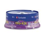 Verbatim DVD+R DL 8.5GB 8X Branded 15pk Spindle 8.5GB DVD+R DL 15pcs